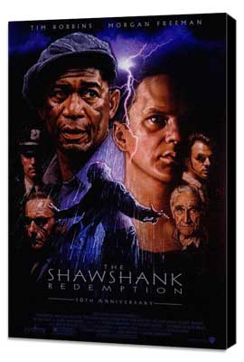 The Shawshank Redemption - 27 x 40 Movie Poster - Style A - Museum Wrapped Canvas