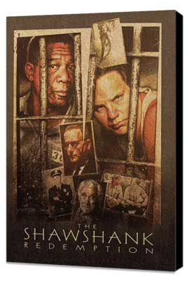 The Shawshank Redemption - 27 x 40 Movie Poster - Style H - Museum Wrapped Canvas