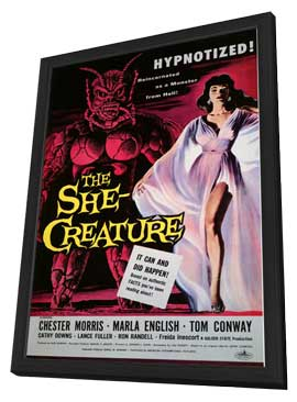 The She-Creature - 11 x 17 Movie Poster - Style A - in Deluxe Wood Frame