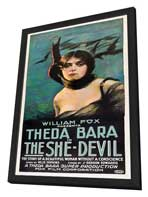 The She Devil - 20 x 40 Movie Poster - Style A - in Deluxe Wood Frame