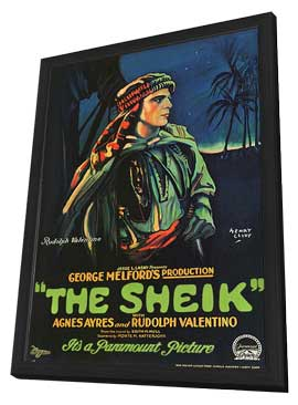 The Sheik - 27 x 40 Movie Poster - Style B - in Deluxe Wood Frame
