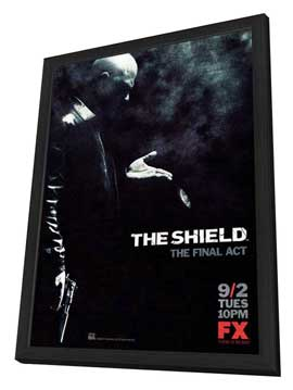 Shield, The - 11 x 17 TV Poster - Style E - in Deluxe Wood Frame