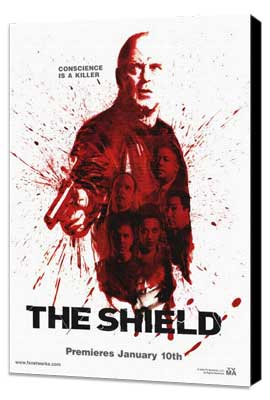 Shield, The - 11 x 17 TV Poster - Style C - Museum Wrapped Canvas