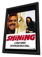 The Shining - 27 x 40 Movie Poster - Style B - in Deluxe Wood Frame
