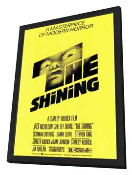 The Shining - 27 x 40 Movie Poster - Style A - in Deluxe Wood Frame