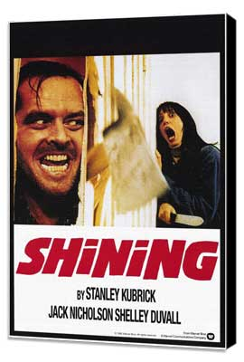 The Shining - 11 x 17 Movie Poster - Style C - Museum Wrapped Canvas