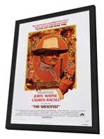 The Shootist - 27 x 40 Movie Poster - Style B - in Deluxe Wood Frame