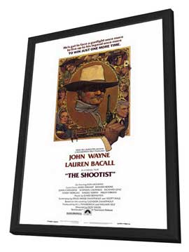 The Shootist - 11 x 17 Movie Poster - Style A - in Deluxe Wood Frame