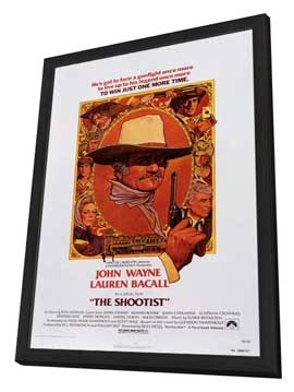 The Shootist - 11 x 17 Movie Poster - Style B - in Deluxe Wood Frame