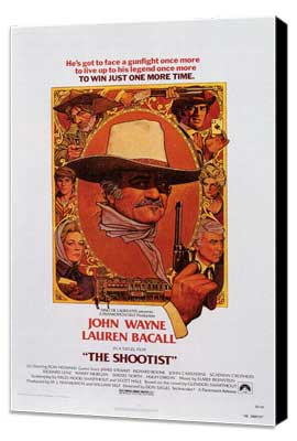 The Shootist - 11 x 17 Movie Poster - Style B - Museum Wrapped Canvas