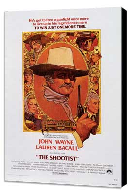 The Shootist - 27 x 40 Movie Poster - Style B - Museum Wrapped Canvas