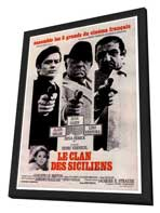 The Sicilian Clan - 27 x 40 Movie Poster - French Style A - in Deluxe Wood Frame