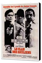 The Sicilian Clan - 27 x 40 Movie Poster - French Style A - Museum Wrapped Canvas