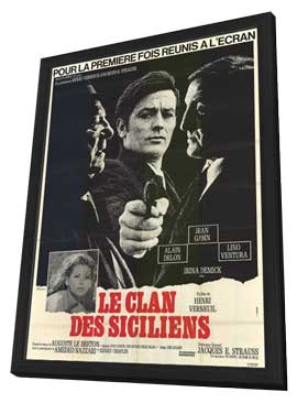 The Sicilian Clan - 11 x 17 Poster - Foreign - Style A - in Deluxe Wood Frame