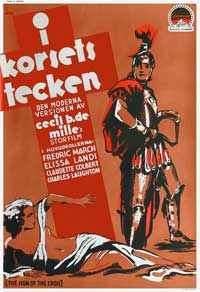 The Sign of the Cross - 27 x 40 Movie Poster - Swedish Style A