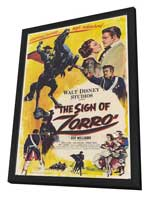 The Sign of Zorro - 11 x 17 Movie Poster - Style A - in Deluxe Wood Frame