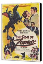 The Sign of Zorro - 11 x 17 Movie Poster - Style A - Museum Wrapped Canvas