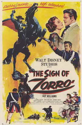 The Sign of Zorro - 11 x 17 Movie Poster - Style A