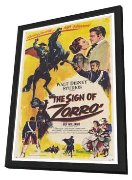 The Sign of Zorro - 27 x 40 Movie Poster - Style A - in Deluxe Wood Frame
