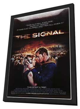 The Signal - 27 x 40 Movie Poster - Style A - in Deluxe Wood Frame