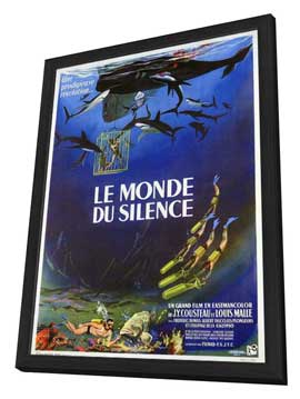 The Silent World - 11 x 17 Movie Poster - French Style A - in Deluxe Wood Frame