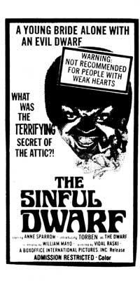 The Sinful Dwarf - 11 x 17 Movie Poster - Style A