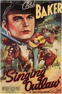 The Singing Outlaw - 43 x 62 Movie Poster - Bus Shelter Style A