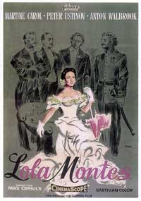 The Sins of Lola Montes - 27 x 40 Movie Poster - Spanish Style A