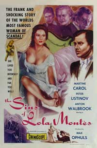 The Sins of Lola Montes - 27 x 40 Movie Poster - Style A