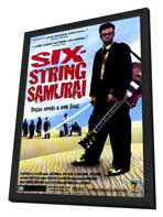 Six-String Samurai - 27 x 40 Movie Poster - Style A - in Deluxe Wood Frame