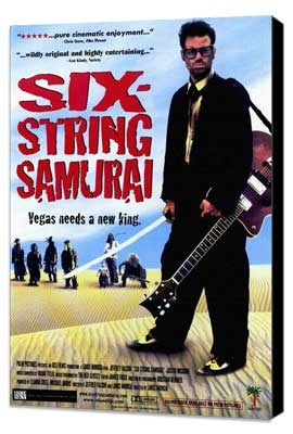 Six-String Samurai - 27 x 40 Movie Poster - Style A - Museum Wrapped Canvas