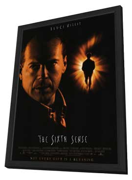 The Sixth Sense - 27 x 40 Movie Poster - Style B - in Deluxe Wood Frame