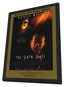 The Sixth Sense - 11 x 17 Movie Poster - Style C - in Deluxe Wood Frame