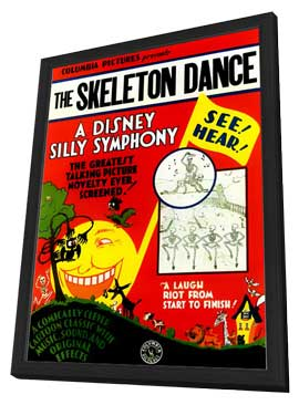 The Skeleton Dance - 11 x 17 Movie Poster - Style A - in Deluxe Wood Frame