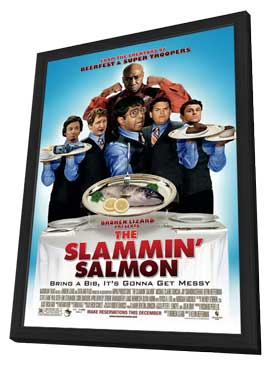 The Slammin' Salmon - 11 x 17 Movie Poster - Style A - in Deluxe Wood Frame