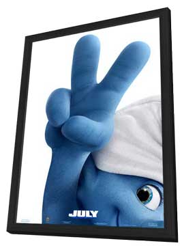 The Smurfs 2 - 11 x 17 Movie Poster - Style A - in Deluxe Wood Frame