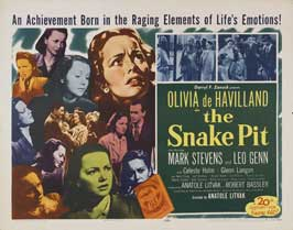 The Snake Pit - 22 x 28 Movie Poster - Half Sheet Style A