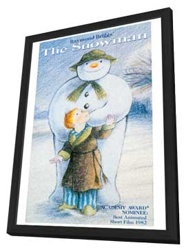 The Snowman - 27 x 40 Movie Poster - Style C - in Deluxe Wood Frame