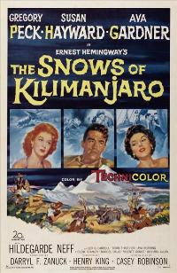 The Snows of Kilimanjaro - 27 x 40 Movie Poster - Style B
