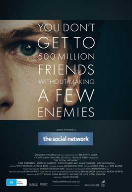 The Social Network - 11 x 17 Movie Poster - Australian Style A