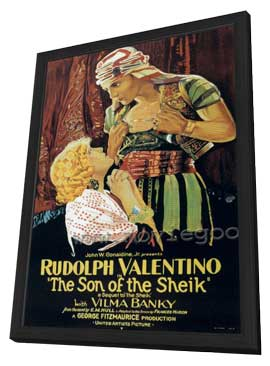 Son of the Sheik - 27 x 40 Movie Poster - Style D - in Deluxe Wood Frame