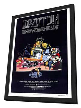 The Song Remains the Same - 27 x 40 Movie Poster - Style A - in Deluxe Wood Frame