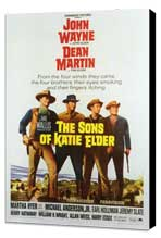 Sons of Katie Elder - 27 x 40 Movie Poster - Style A - Museum Wrapped Canvas