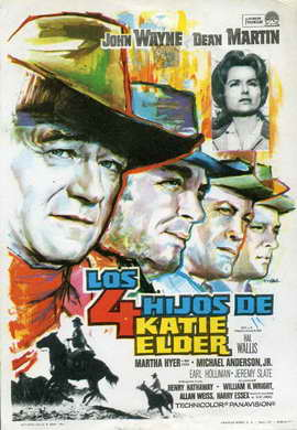 Sons of Katie Elder - 27 x 40 Movie Poster - Spanish Style A