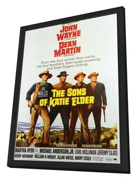 Sons of Katie Elder - 11 x 17 Movie Poster - Style A - in Deluxe Wood Frame
