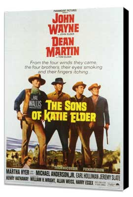 Sons of Katie Elder - 11 x 17 Movie Poster - Style A - Museum Wrapped Canvas