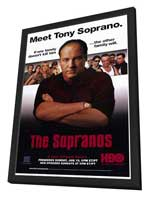 The Sopranos - 27 x 40 TV Poster - Style B - in Deluxe Wood Frame