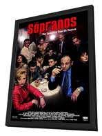 The Sopranos - 27 x 40 TV Poster - Style C - in Deluxe Wood Frame