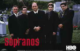 The Sopranos - 11 x 17 TV Poster - Style E