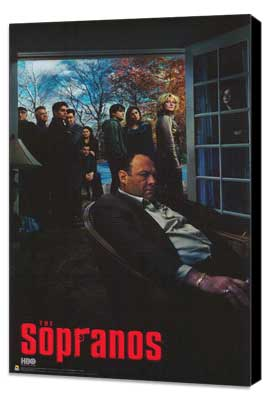 The Sopranos - 11 x 17 TV Poster - Style I - Museum Wrapped Canvas